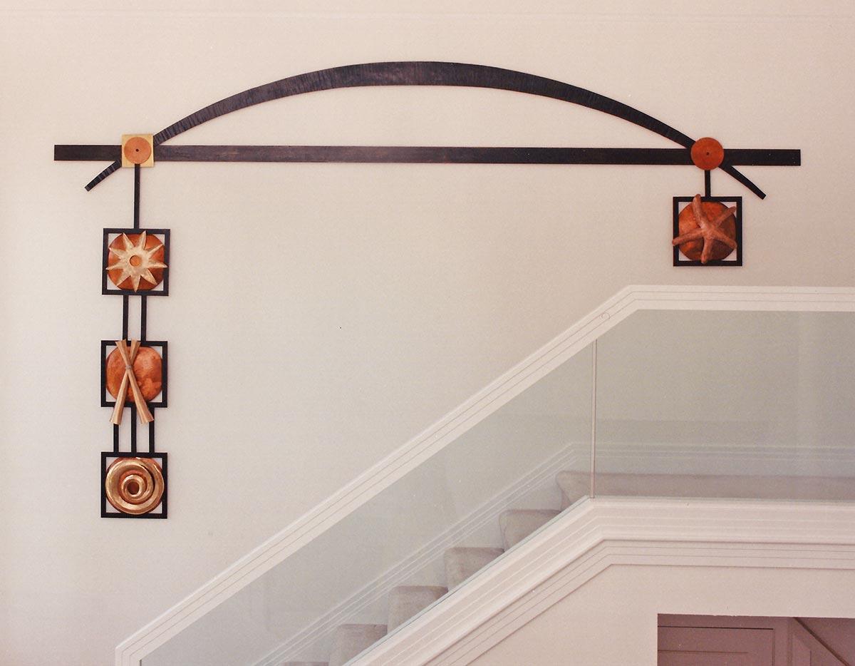 Zetzers Custom Metal Wall Art, Steel, Copper, Brass