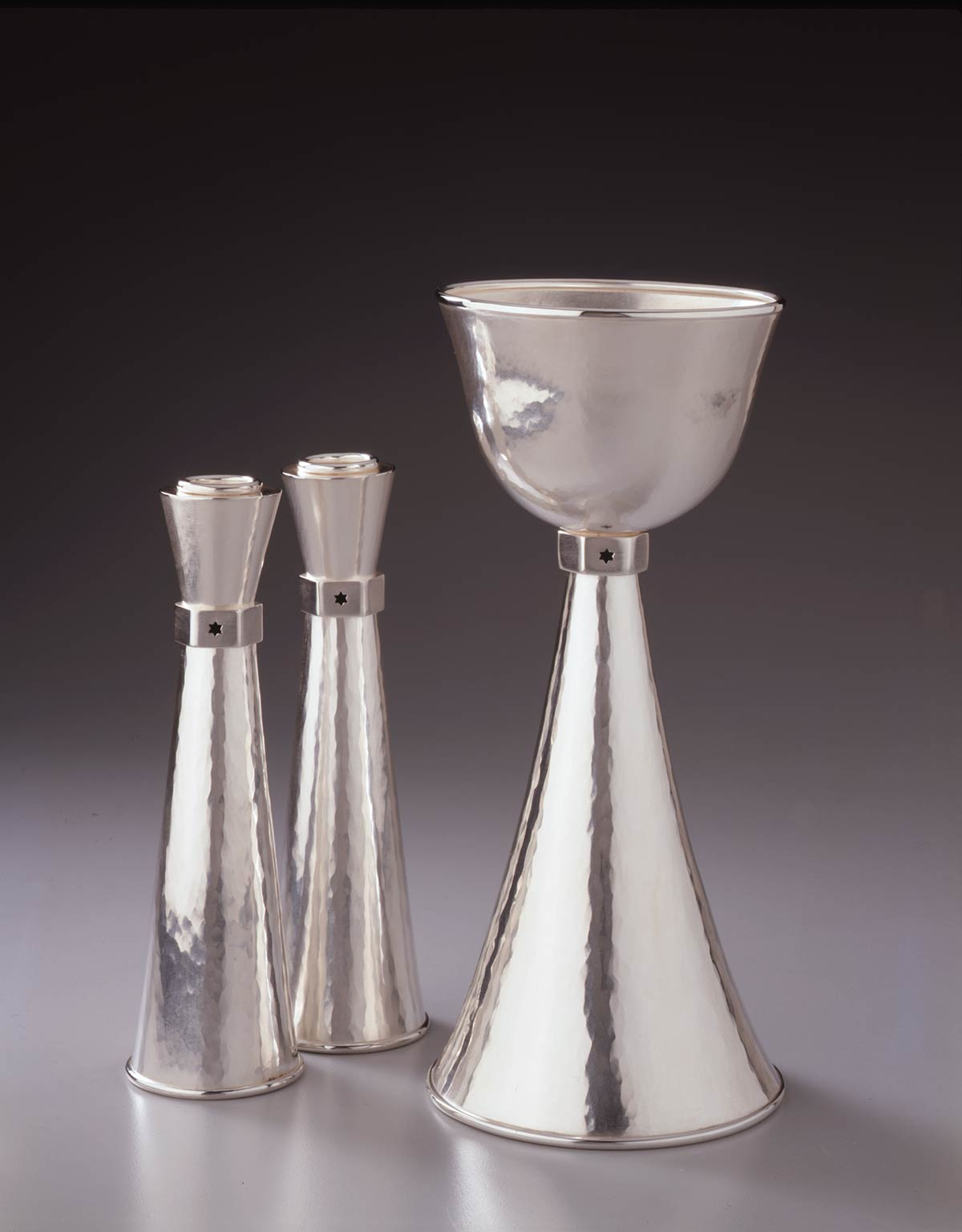 Kiddush Cup and Candlestick Holders